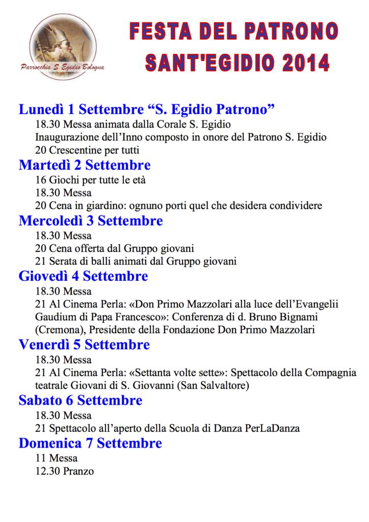 FestaSantEgidio2014_programma