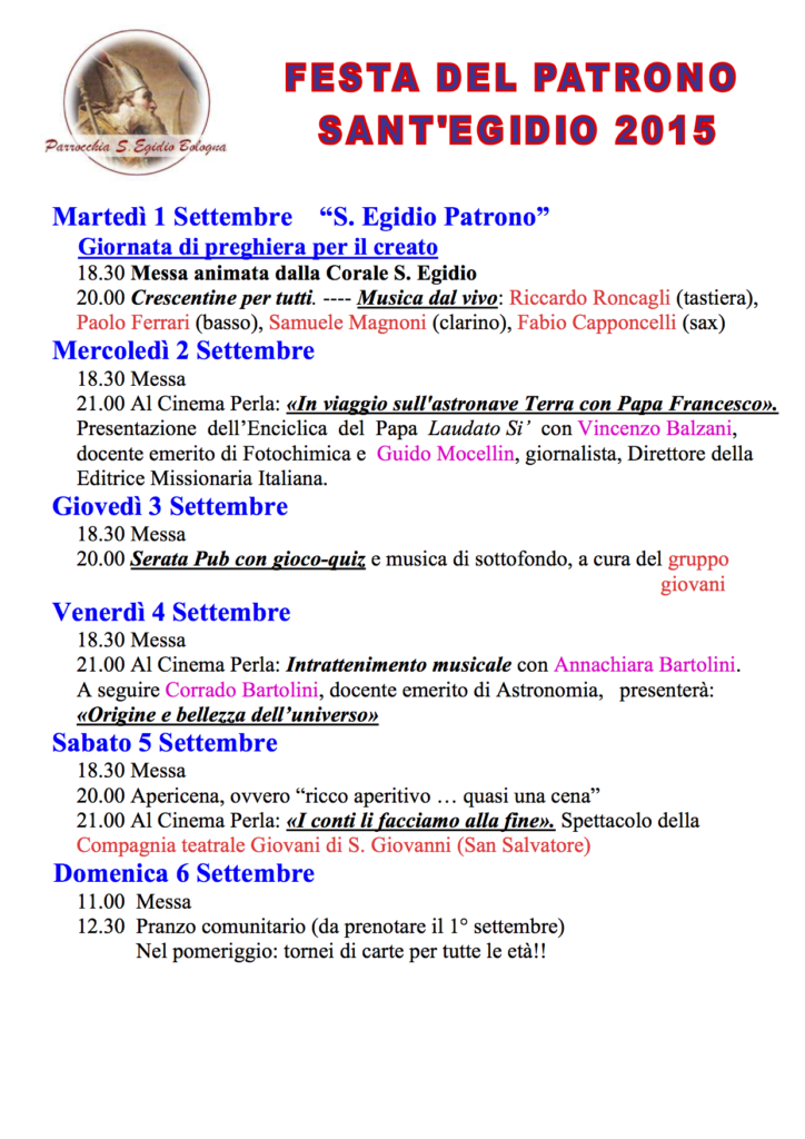FestaSantEgidio2015_programma